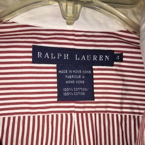 Ralph Lauren pinstriped button down